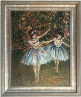 Ballet Dancers (1981) by Michelle Ansor (Original Oil Painting) in Cambridge, UK
