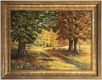 Autumn Woods, Norfolk (1994) by Olive Coker (Original Oil Painting) in Cambridge, UK