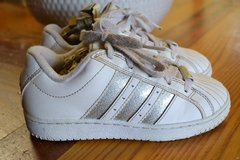 Girls Leather Adidas Sneakers Shoes in Camp Lejeune, North Carolina