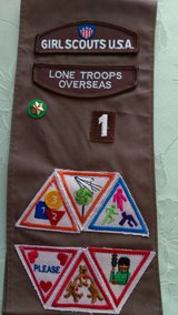 80's-90's Girl Scout sash in Perry, Georgia