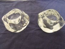 ***REDUCED***2 Crystal Tea Candle Holders***NEW in Kingwood, Texas