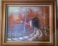 Covered Bridge Oil Painting in Fort Polk, Louisiana