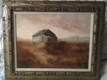 Bank Barn Oil Painting by Tom Wacaster in Fort Polk, Louisiana