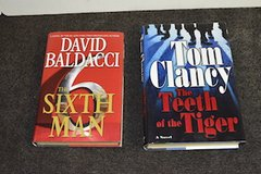 Baldacci and Clancy Hardcover books in Lockport, Illinois