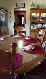 Dining Room Set, Table, 6 chairs, Lighted China Cabinet and Corner Curio in Perry, Georgia