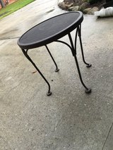 Small iron side table, patio side table in CyFair, Texas