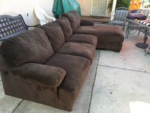 Brown Sectional microfiber Couch in Temecula, California