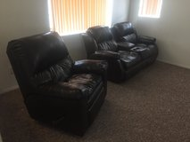 Couch/Recliner Set, Kitchen High Table, Dresser in 29 Palms, California
