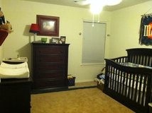 Convertible crib and dresser in Conroe, Texas
