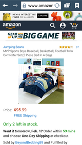 5 piece Sports themed Twin size bedding in Temecula, California