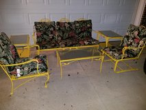 New Orleans Yellow  Woodard / Wrought Iron 6 Piece Patio Set in Clarksville, Tennessee