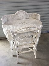 Wicker Desk and Chair in Vacaville, California