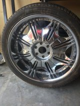 21 inch Rims and Low Profile Tires (Set of 4) in Fort Bliss, Texas