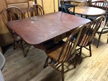 Drop Leaf Table with 4 Chairs in Camp Lejeune, North Carolina