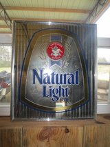 Vintage Natural Light Beer Mirror in Fort Rucker, Alabama