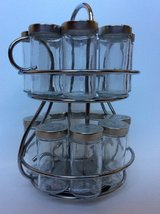 Rotating Spice Rack with 16 Jars in Joliet, Illinois