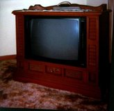 Early American Maple Wood Broken Zenith Television in Naperville, Illinois