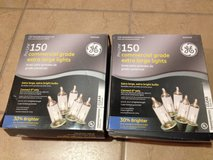 2 BOXES -  NEW $40 value GE 150 pro-line commercial grade extra large clear lights in Lockport, Illinois