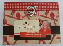 PAULA DEEN KITCHEN RECIPE CARD BOX & DIVIDERS NEW OPEN in Chicago, Illinois