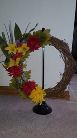 """Bright Floral Wreath"" in Oswego, Illinois"