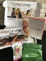 Beach Body's Turbo Fire 15 DVD set in Alvin, Texas