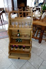 cool solid oak bar trolley in Ramstein, Germany