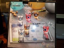 DRINKING GAME       GAME NIGHT    6 SHOT GLASSES-1 DICE-GLASS GAME BOARD in Byron, Georgia