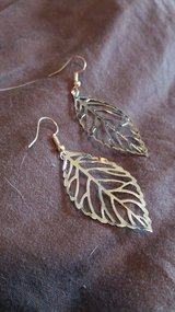 Gold Leaf Earrings in Ramstein, Germany