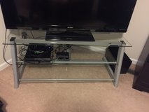 Glass TV Stand (ONLY) in Fort Rucker, Alabama