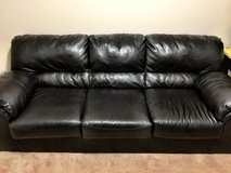 Black Leather Couch in Columbus, Georgia