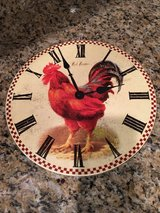 HANDSOME WOOD ROOSTER WALL CLOCK in Lockport, Illinois