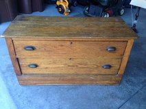 Vintage Two Drawer Solid Wood Chest in Fort Wayne, Indiana