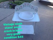 Vintage Metal Wash Stand and Ceramic Sink in Fort Wayne, Indiana