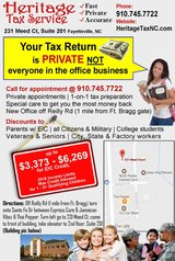 DO YOU BABYSIT AND NEED HELP FILING YOUR TAXES in Fort Bragg, North Carolina