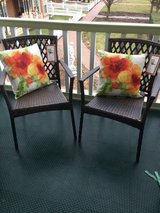 """NEW"" TWO SONOMA PATIO WOVEN STACKING BISTRO CHAIRS in Chicago, Illinois"