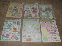 """BRAND NEW """"EASTER"""" CLING ON WALL WINDOW DECORATION SHEETS SET OF 6 in Camp Lejeune, North Carolina"""