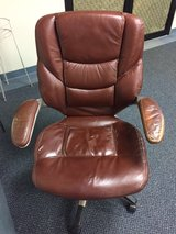 Brown Leather Office Chair in Naperville, Illinois