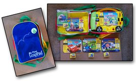 My First LeapPad (Yellow School Bus) w/ Backpack & 4 extra cartridges/books in Aurora, Illinois