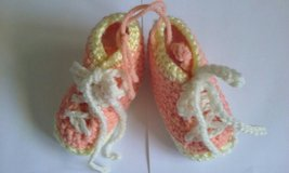 crochet orange & yellow bootie in Bartlett, Illinois