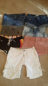 Holister. Size 0 r.  7 pairs. All name brand shorts size  0 in Hinesville, Georgia