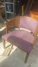 Vintage Cane Sided Accent Chair in Kingwood, Texas