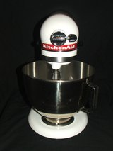 Kitchenaid Ultra Power Mixer 4.5 Qt Tilt-Head White / Red Stripe in Naperville, Illinois