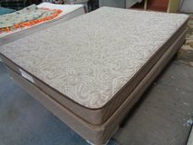 low profile firm queen mattress/box spring and frame in Wilmington, North Carolina