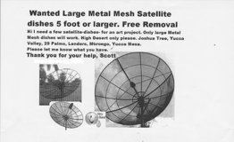 Large Satellite Dish Removal in Yucca Valley, California