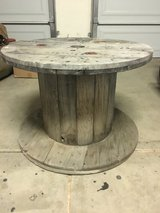 Old wooden wire spool (great for night stand or coffee table) in Camp Pendleton, California