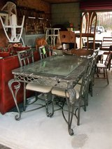 Iron/Marble Dining Table & 4 Chairs (1903-1) in Camp Lejeune, North Carolina