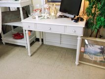 White Wood Desk/ Vanity (2245-38) in Camp Lejeune, North Carolina