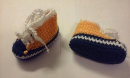 crochet bootie blue orange in Bartlett, Illinois