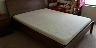 Queen size bed frame with Mattress-$280 OR best offer in Chicago, Illinois