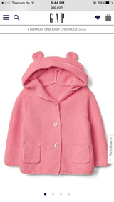NWT Gap Bear Hoodie w/ Shoes in Ramstein, Germany